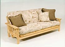 Hot Sale Wide Mission Futon Frame w /9inch Premium Futon Mattress - Full Size
