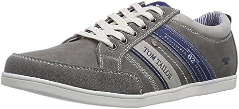 Tom Tailor 7580201, Baskets mode homme - Gris (Grey), 42 EU
