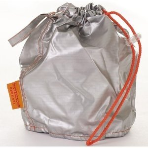 Silver Medium GoKnit Pouch Project Bag w/ Loop and Drawstring
