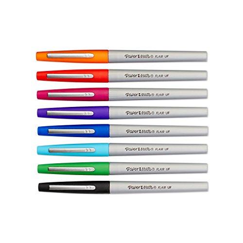 Paper Mate Flair Porous-Point Felt Tip Pen, Ultra-Fine, Core Colors, 8-Count