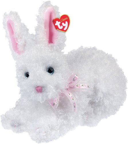 Ty Presto - White Curly Rabbit - 1