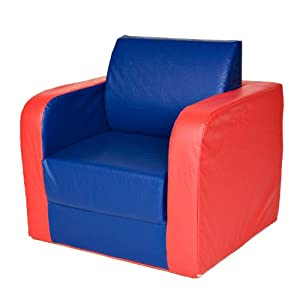 Foamnasium Juvenile Pullout Chair, Blue/Red
