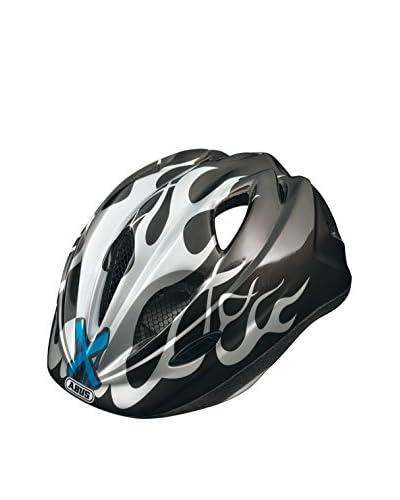 ABUS Casco da Bicicletta Super Chilly X-Flame Nero/Grigio 52-57 cm