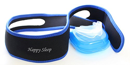 Stop Snoring Chin Strap with Sleep Aid Mouth Guard - Anti Snore Solution for Good Mornings - Works Better Than other Devices - All Natural Remedy for Snorers - Reduce Snores and Improve Sleep Immediately - 100% Money Back Guarantee