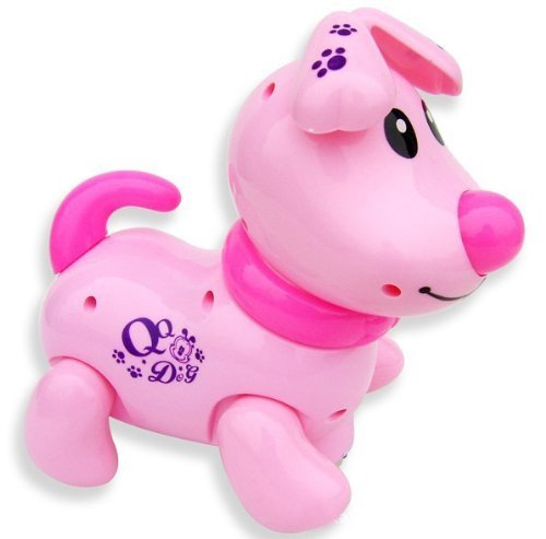 cutequeen trading dog pink Flash Light,music and Move