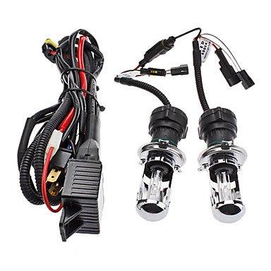 Zclxenon H4-3 High/Low Beam Conversion Hid Lamp Bulbs For Car Headlight (12V-35W, 2-Piece)