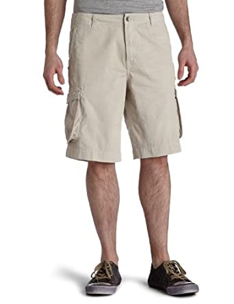 7 For All Mankind Men's Microsanded Twill Relaxed Cargo Short,Oat1,28