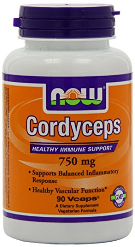 Now Foods Cordyceps 750mg, Veg-Capsules, 90-Count (Packaging May Vary)
