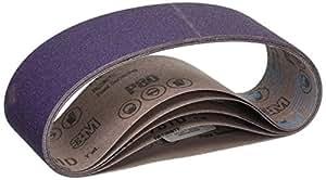 3M 81401 3-Inch by 21-Inch Purple Regalite Resin Bond 80 Grit Cloth Sanding Belt, Pack of 5