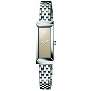 Gucci Women's YA127501 G-Frame Rectangle Steel Bracelet Brown Mirror Dial Watch from Gucci