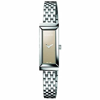 Gucci Womens Ya127501 G-frame Rectangle Steel Bracelet Brown Mirror Dial Watch from Gucci
