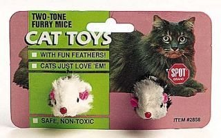 Ethical Cat Fur Feather Mouse 2 Tone 2 Pack - 2858