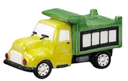 Andrea Sadek Yellow and Green Dump Truck Designed Coin Bank - 1