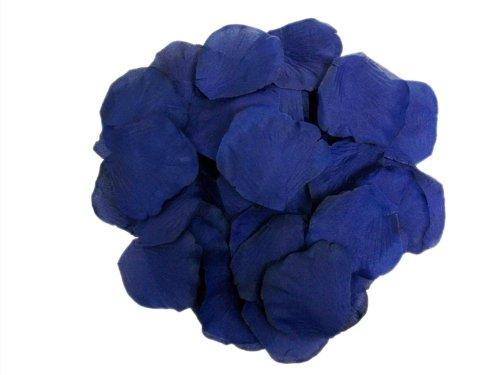 2000 Silk Rose Petals Wedding Decorations Bulk Supplies - Navy Blue