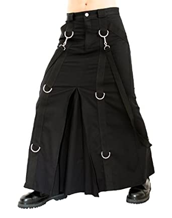 Aderlass Chain Skirt Denim Black (Größe XXL)