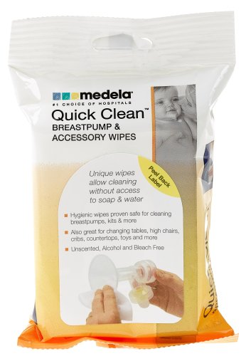 Quick Clean Breastpump Accessory Wipes 24 Pack