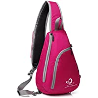 Waterfly Sling Shoulder Rope Triangle Backpacks (Rose)
