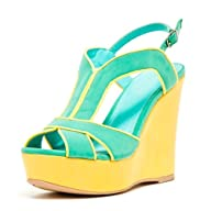Women's Strappy Open Toe Platform Wedge