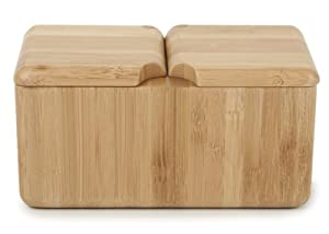Core Bamboo Double Square Salt Box