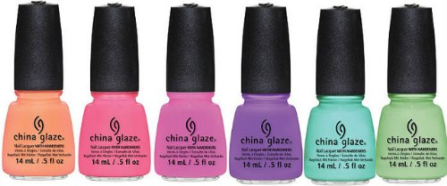 China Glaze Summer 2013 Sunsational CREME 6 BOTTLE