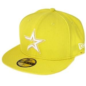 New Era Cap - BASIC Houston Astros gelb / weiss 7 1/8