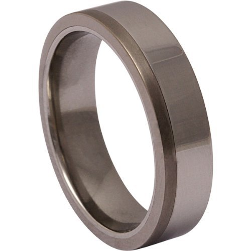 Jewellery Excellent Men's Titan encounters Edelstahl ! Wedding Ring , Ehering, engagement Ring -68 (21,6) - Titanium and stainless steel 12 (Edelstahl Ring compare prices)