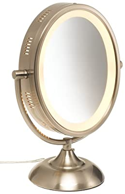 Best Cheap Deal for Jerdon HL955N 8-Inch Oval Halo Lighted Vanity Mirror with 5x Magnification, Nickel Finish by Jerdon - Free 2 Day Shipping Available