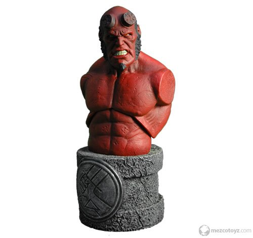 Picture of Mezco Hellboy 2 The Golden Army Roto Bust Hellboy Figure (B001BL13T4) (Mezco Action Figures)