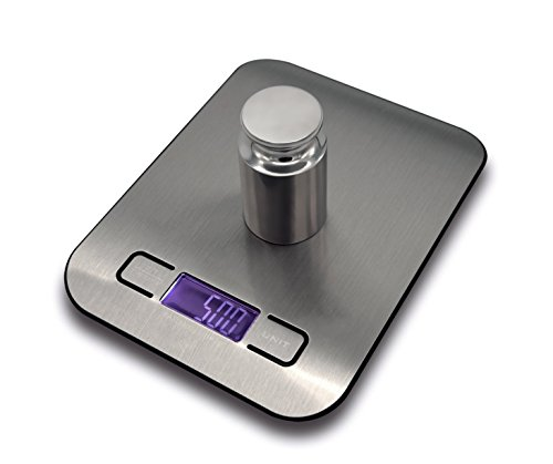 Kitchen Food Scale, NetBoat Max 11lb/5kg Digital Multifunction Stainless Steel Kitchen Scale With LED Display & Tare Function & 4 Different Measurement Units (Cheap Baking Scale compare prices)
