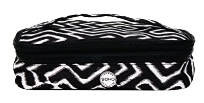 Best Cheap Deal for SOHO Tribal Double Zip Cosmetic Box by Allegro, A Division of Conair Corporation - Free 2 Day Shipping Available