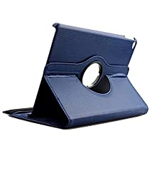 """TGKâ""""¢ 360 Degree Rotating Leather Smart Case Cover Stand for iPad Air 2 / iPad Air 6 (Navy Blue)"""
