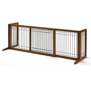 Amazon Com Richell Wood Freestanding Pet Gate Large