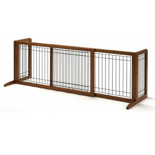 Richell Wood Freestanding Pet Gate