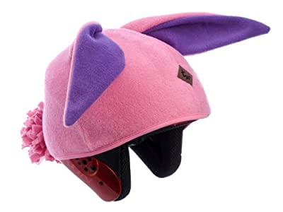 Tail Wags Equestrian Helmet Covers (Bunny/Pink, Child) by Tail Wags Helmet Covers