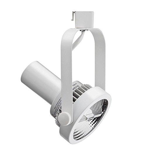 Lithonia Lighting LTH1000 PAR38 WH M24 One-Light Rear Loading Gimbal Commercial Track Head, PAR38-Compatible, White (Commercial Track Lighting compare prices)