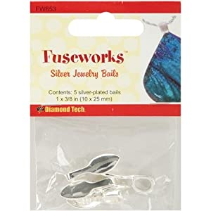 Fuseworks Large Silver Jewelry Bails, 5-Pack