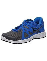 Nike Men's Revolution 2MSL Black Blue And White Running Shoes(554954-058)