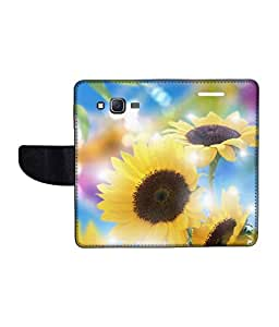 KolorEdge Printed Flip Cover For Samsung Galaxy On7 Multicolor - (1479-55KeMLogo11030SamOn7)