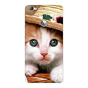 Special Cute Kitty Hat Multicolor Back Case Cover for LeTV Le 1s