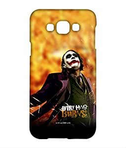 Everything Burns Phone Cover for Samsung E7 by Block Print Company