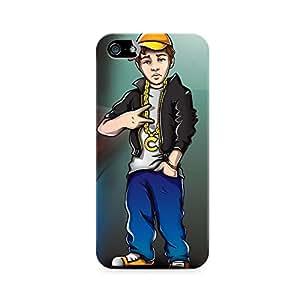 Motivatebox - Apple Iphone 5/5s Back Cover - Cool Kid Polycarbonate 3D Hard case protective back cover. Premium Quality designer Printed 3D Matte finish hard case back cover.