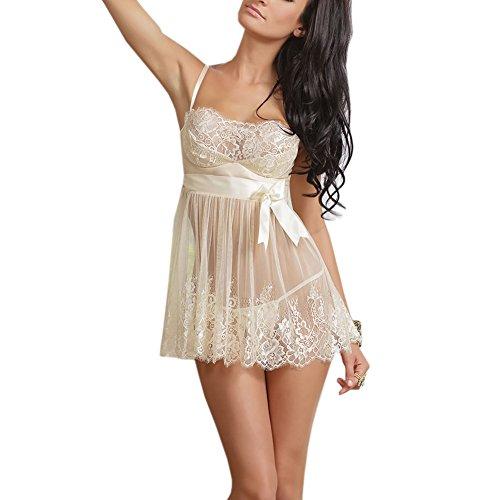 Damen-Sexy-Babydoll-Nightgown-Sleepwear-Negligee-S-XXXL