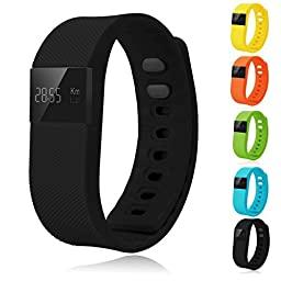 Vahulawa TW64 Smart Watch Bluetooth Watch Bracelet Smart band Calorie Counter Wireless Pedometer Sport Activity Tracker For iPhone Samsung Android IOS Phone (Black)