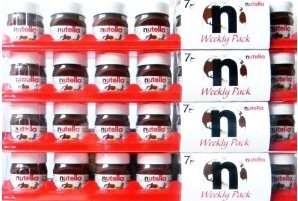 NUTELLA WEEKLY PACK, FOR TRAVELLERS, 4 packages with each 7 MINI JARS, Limited Edition