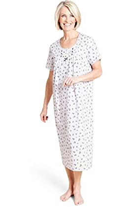 Floral Print Pintuck Nightdress