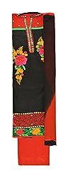 Khushika Women's Cotton Unstitched Salwar Suit (Black)