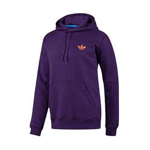 AAdidas Originals Fleece Hoodie Top Hoody Mens Purple Hooded Sweatshirt Purple L