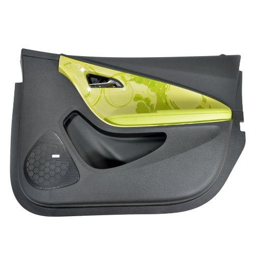 2011 CHEVY VOLT RIGHT FRONT INTERIOR DOOR TRIM PANEL GREEN ACCENTS 22771838