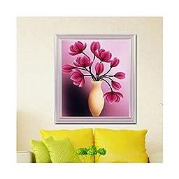 5D Diamond Painting Living Room Cross Stitch Magic Cube Diamond Full-jewelled Living Room Diamond Stitch Tulip