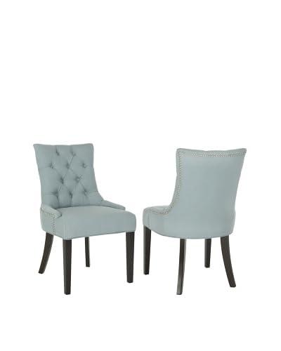 Safavieh Set of 2 Ashley Side Chairs, Sky Blue